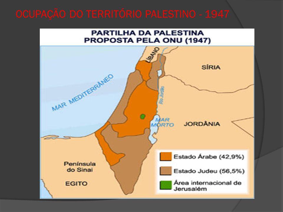 OCUPAÇÃO DO TERRITÓRIO PALESTINO - 1947