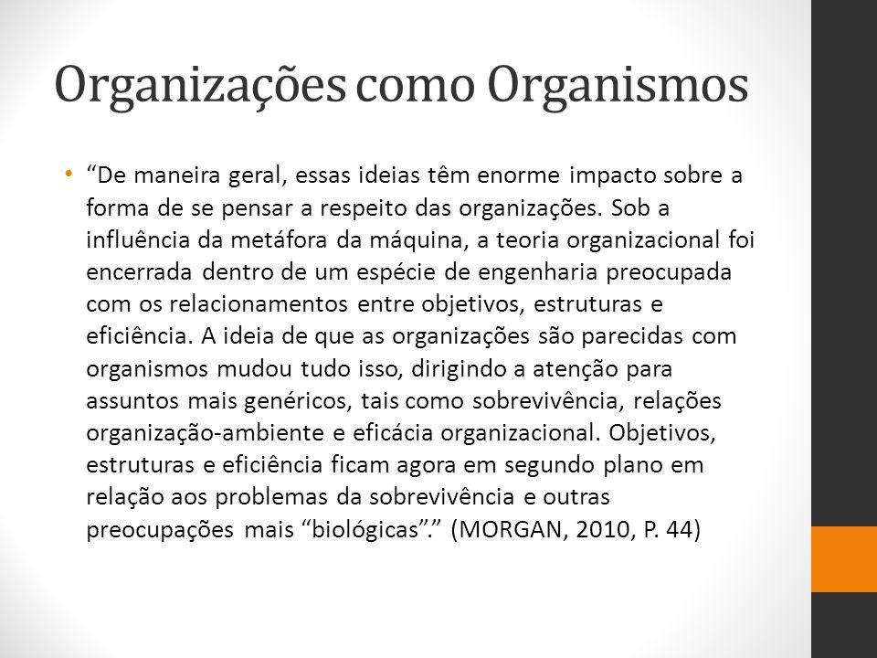 Organizações como Organismos
