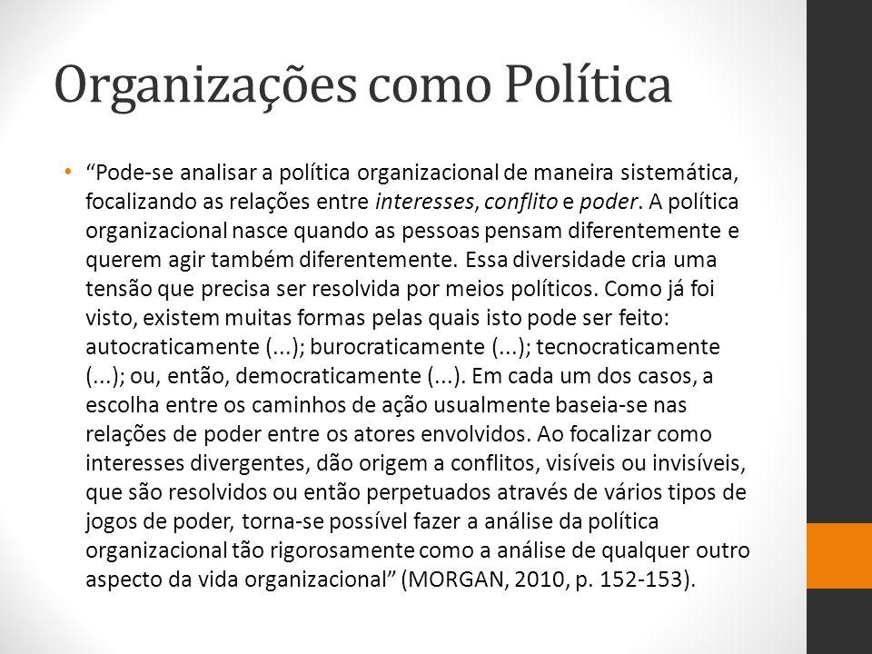 Organizações como Política