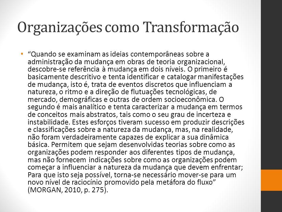 Organizações como Transformação