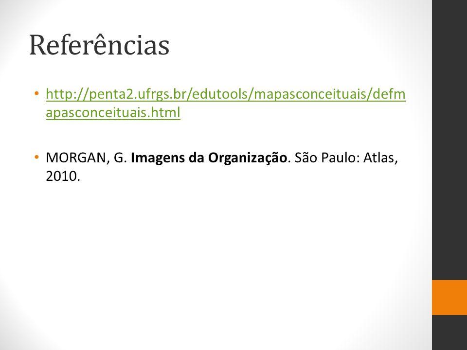 Referências http://penta2.ufrgs.br/edutools/mapasconceituais/defmapasconceituais.html.