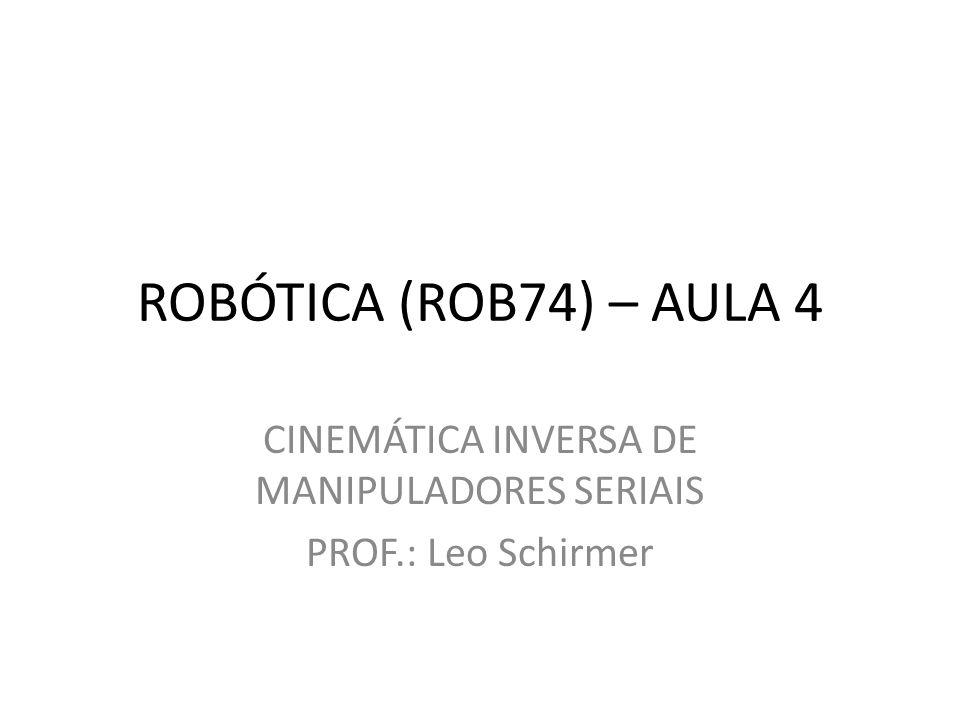 CINEMÁTICA INVERSA DE MANIPULADORES SERIAIS PROF.: Leo Schirmer