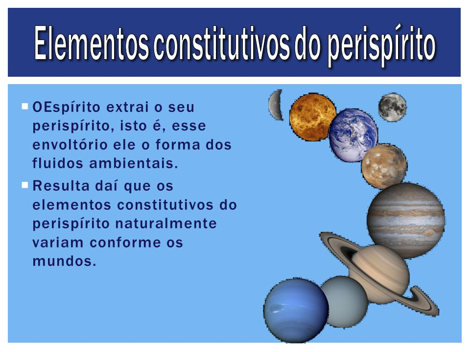 Elementos constitutivos do perispírito