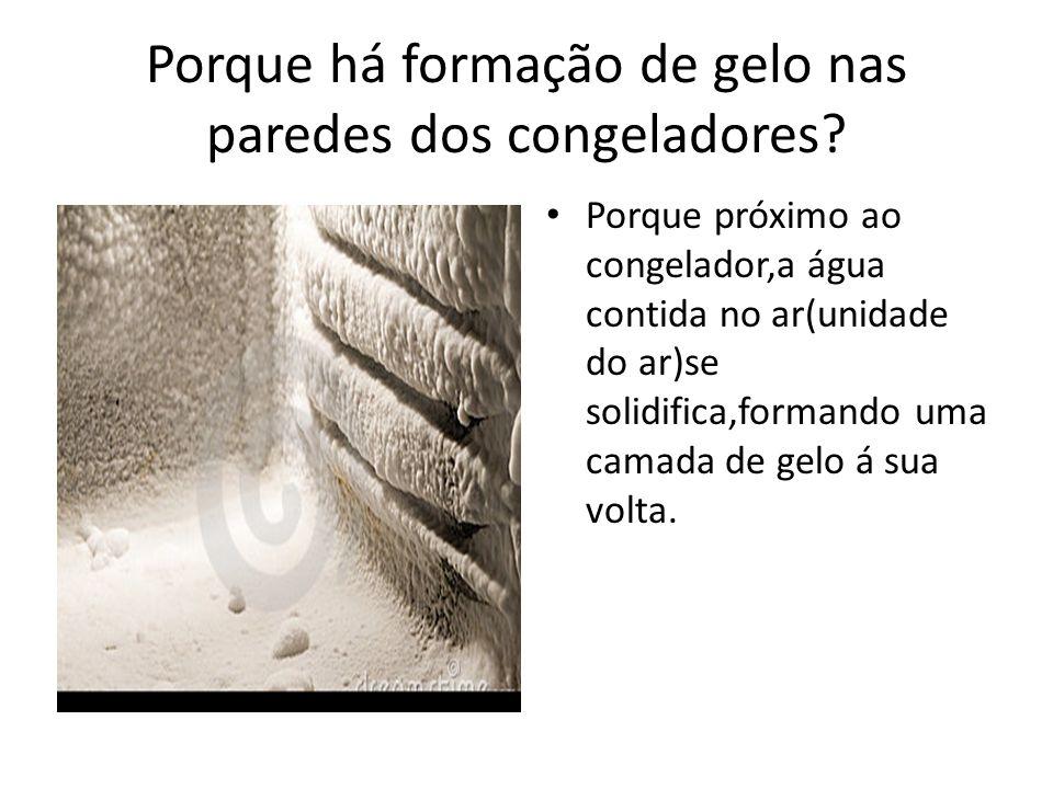 Porque há formação de gelo nas paredes dos congeladores