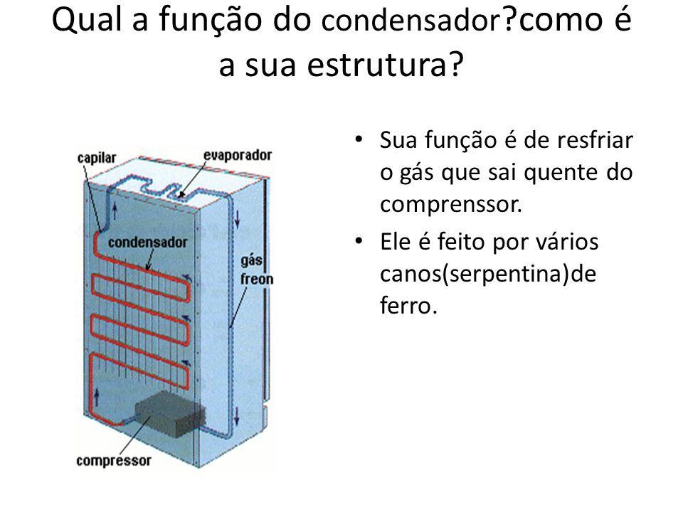 Qual a função do condensador como é a sua estrutura