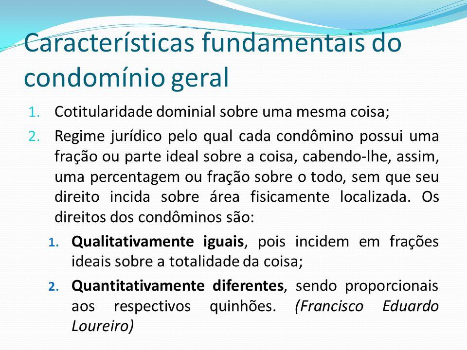 Características fundamentais do condomínio geral