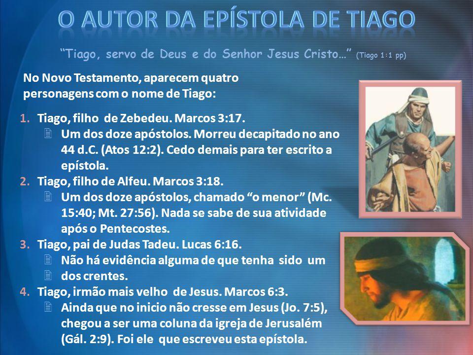 O AUTOR DA EPÍSTOLA DE TIAGO