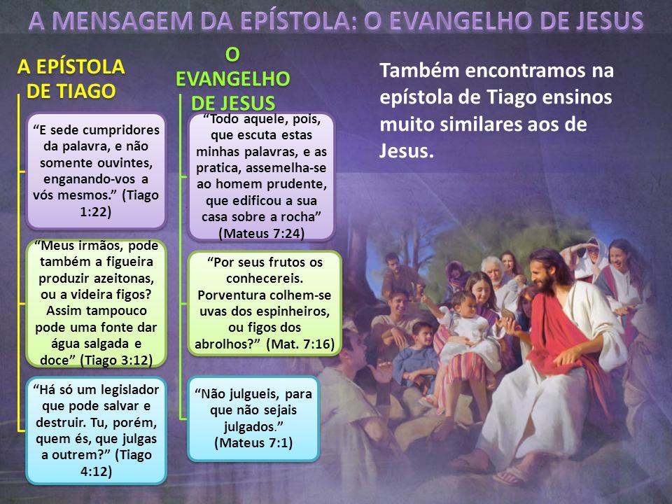 A MENSAGEM DA EPÍSTOLA: O EVANGELHO DE JESUS