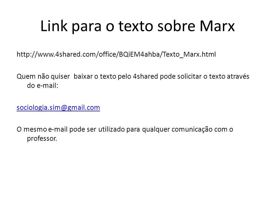 Link para o texto sobre Marx