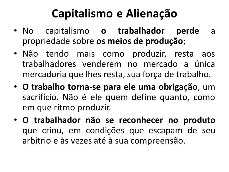 Capitalismo e Alienação