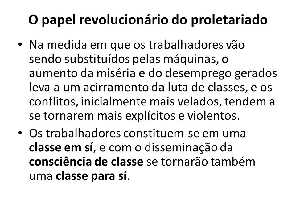 O papel revolucionário do proletariado