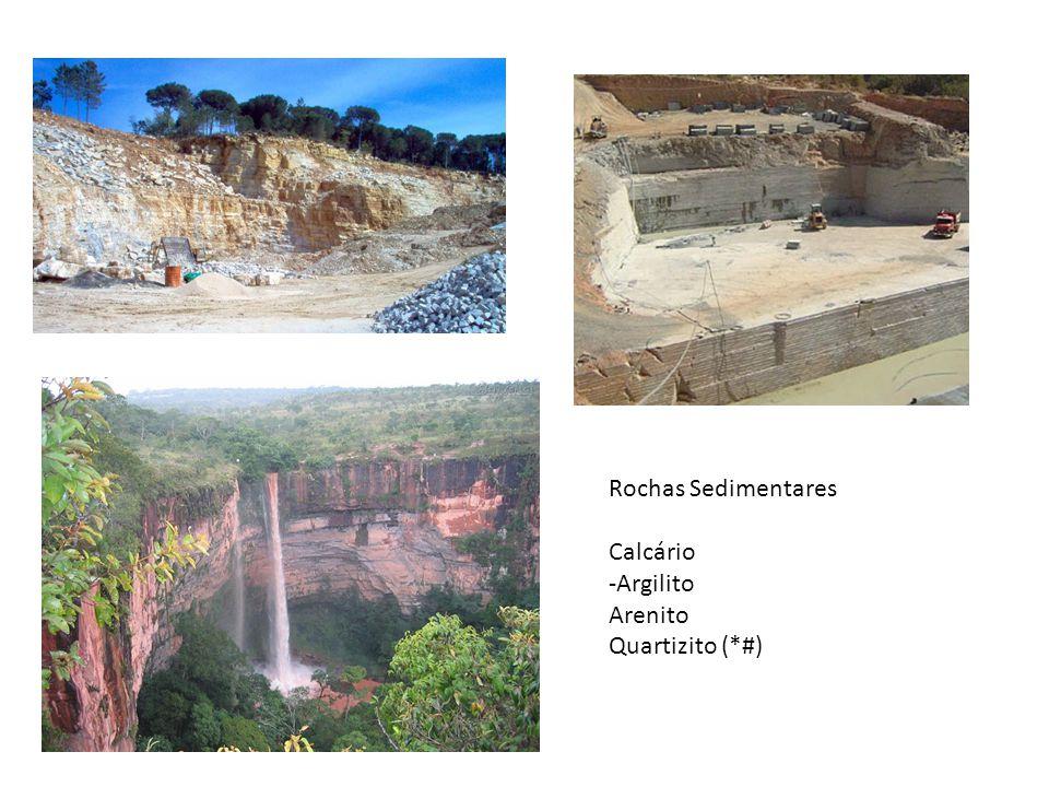 Rochas Sedimentares Calcário -Argilito Arenito Quartizito (*#)