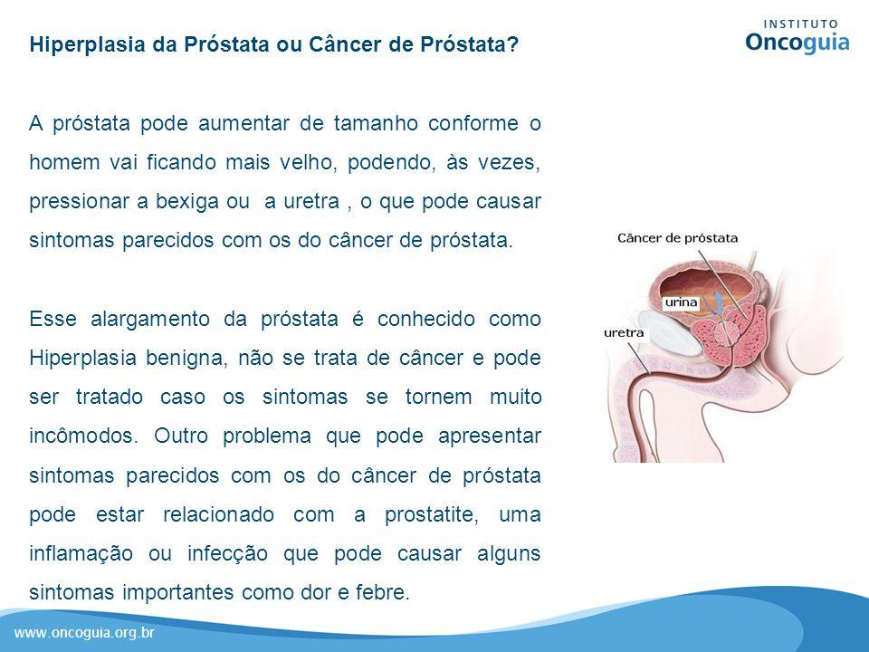 Hiperplasia da Próstata ou Câncer de Próstata