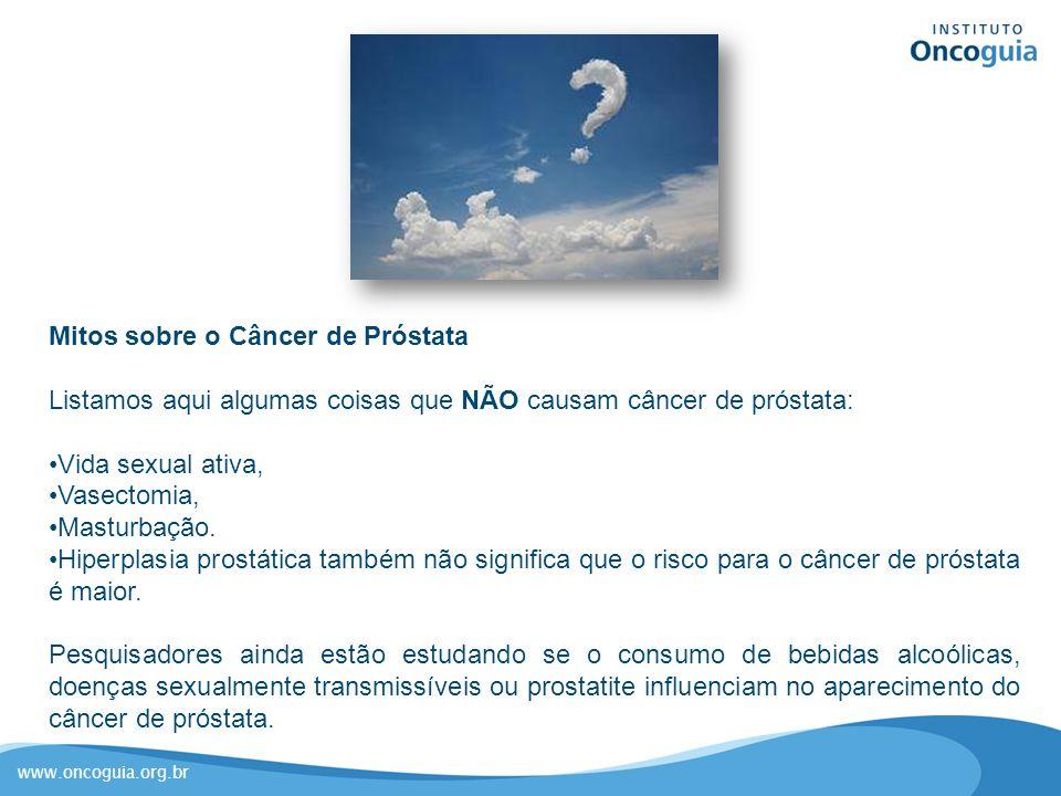 Mitos sobre o Câncer de Próstata