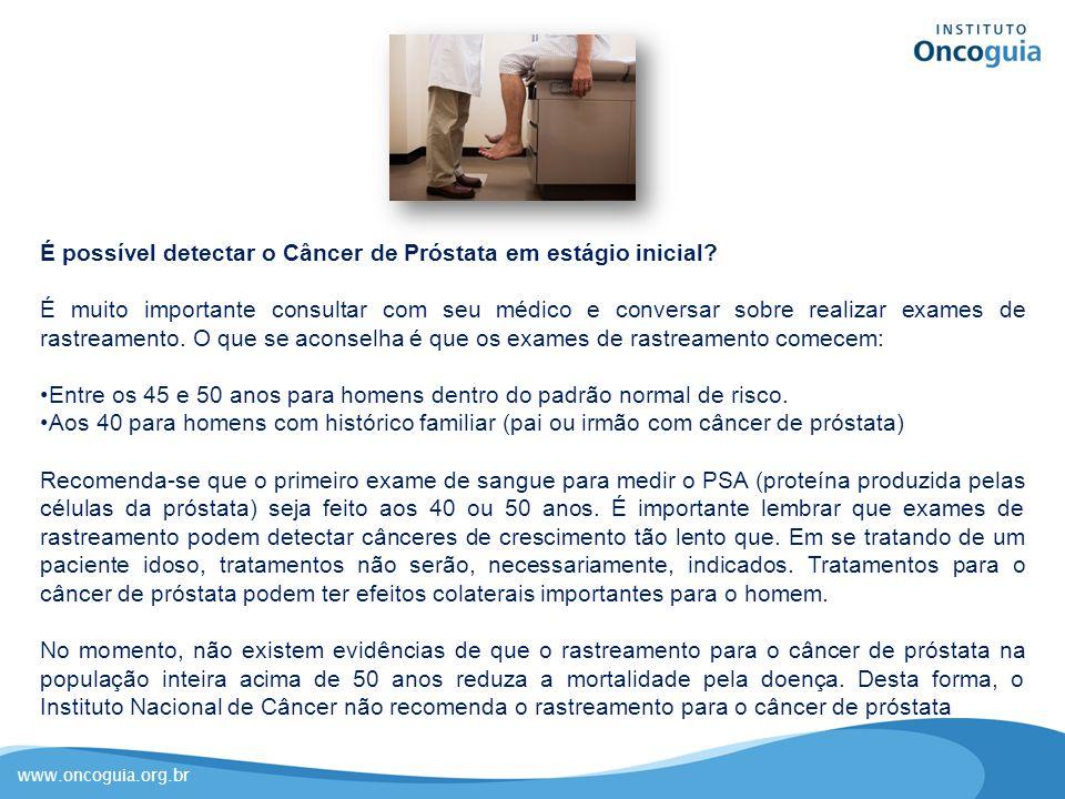 É possível detectar o Câncer de Próstata em estágio inicial