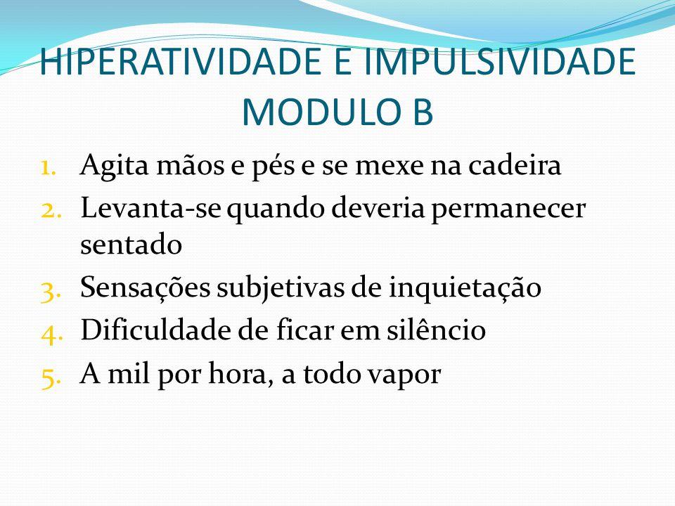 HIPERATIVIDADE E IMPULSIVIDADE MODULO B
