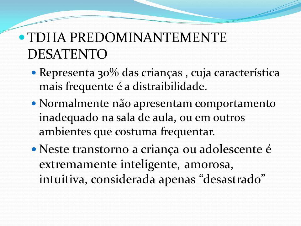 TDHA PREDOMINANTEMENTE DESATENTO