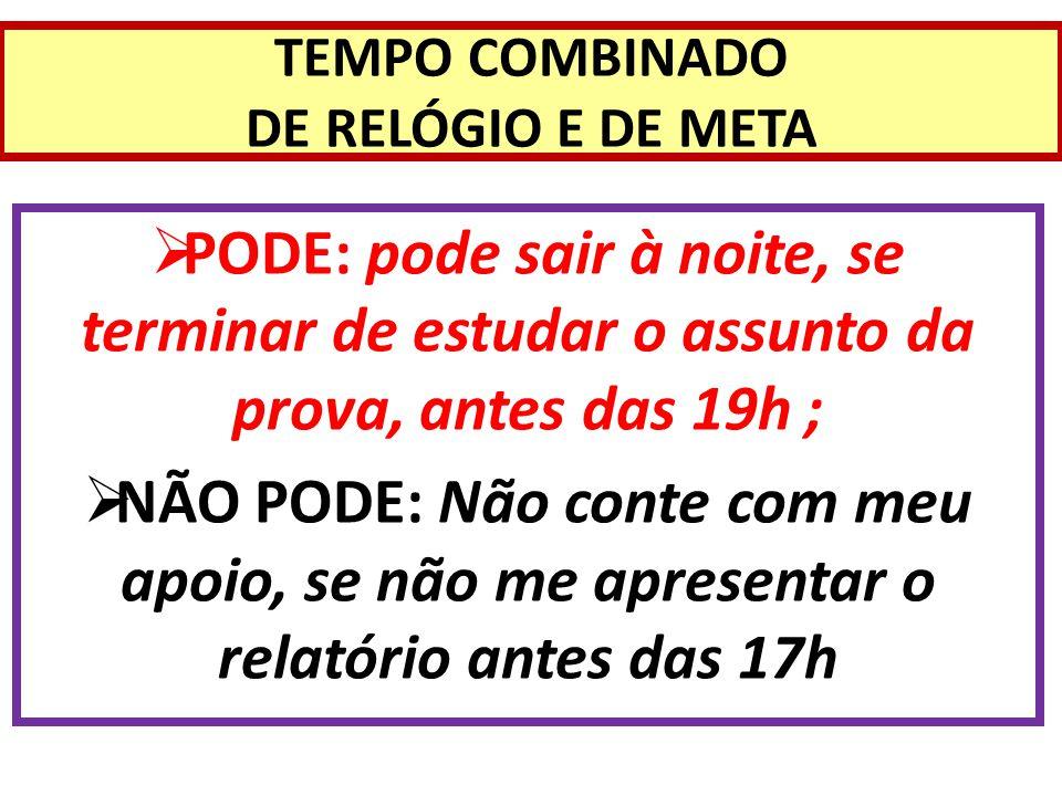 TEMPO COMBINADO DE RELÓGIO E DE META