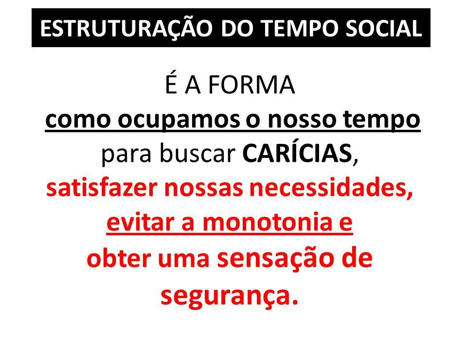 ESTRUTURAÇÃO DO TEMPO SOCIAL