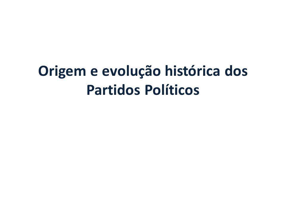 Origem e evolução histórica dos Partidos Políticos