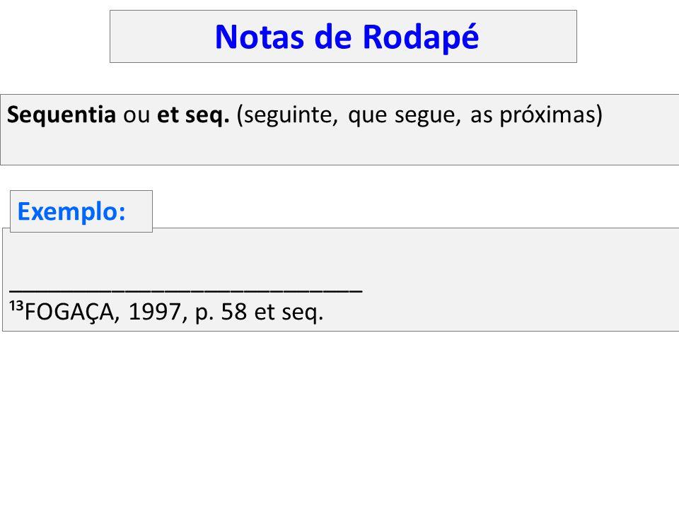 Notas de Rodapé Exemplo: