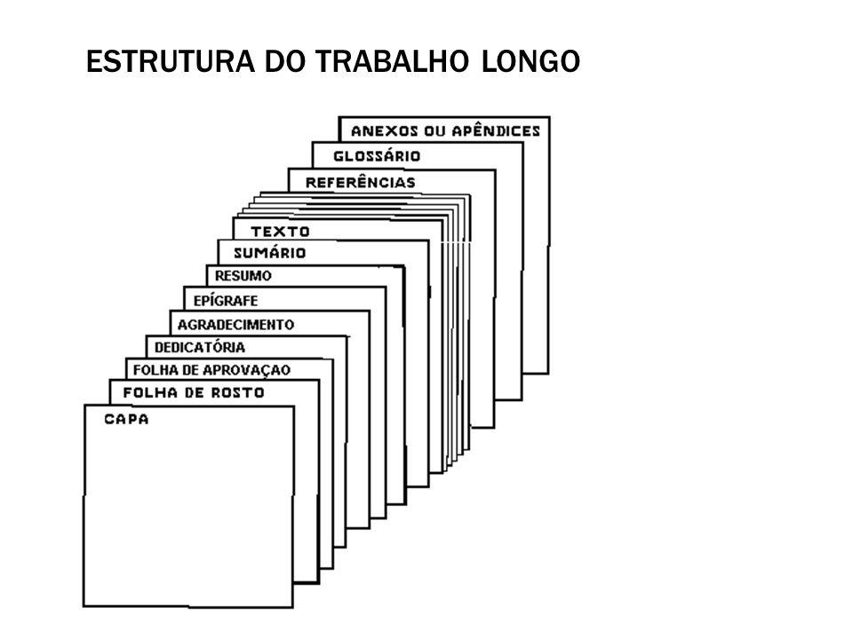 Estrutura do trabalho longo