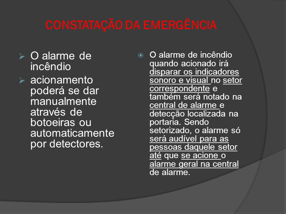 CONSTATAÇÃO DA EMERGÊNCIA