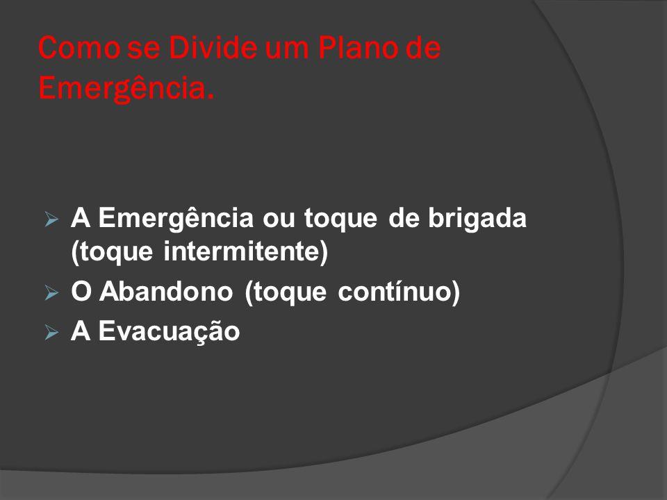 Como se Divide um Plano de Emergência.
