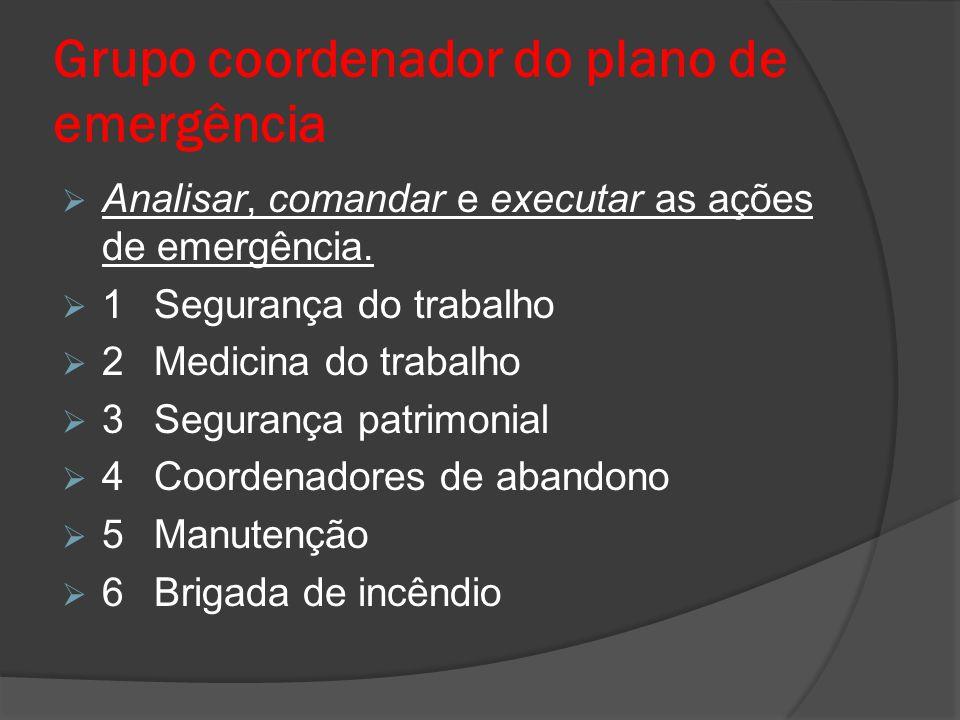 Grupo coordenador do plano de emergência