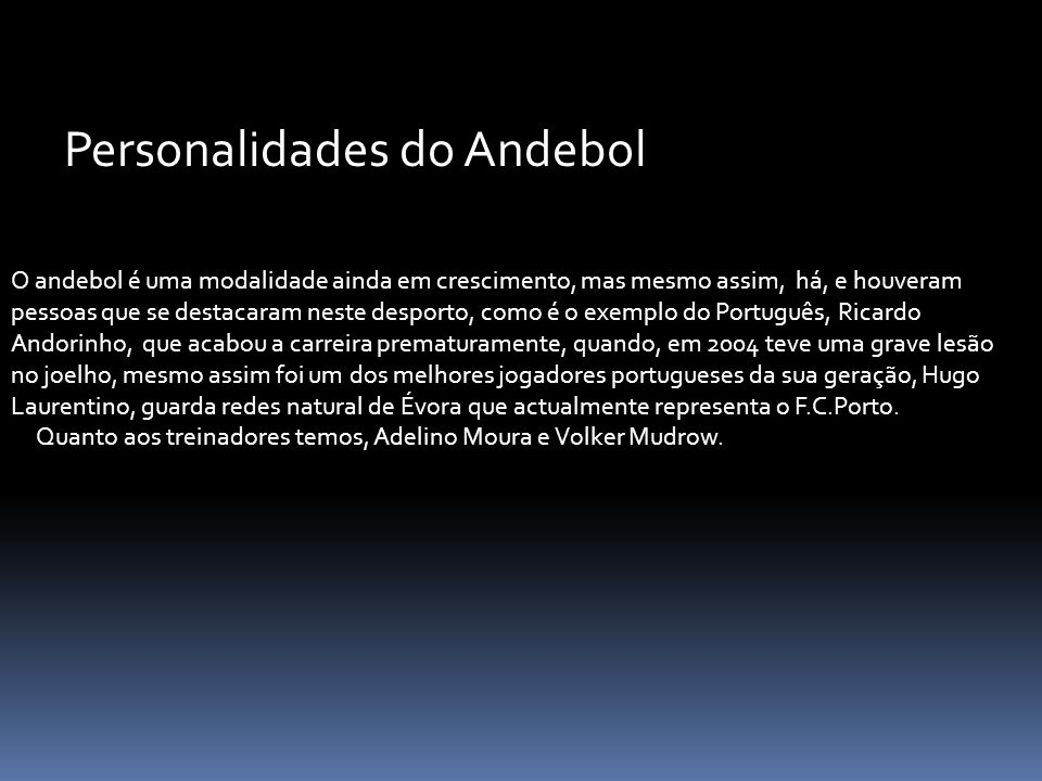 Personalidades do Andebol