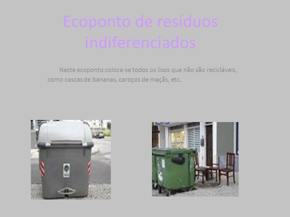Ecoponto de resíduos indiferenciados
