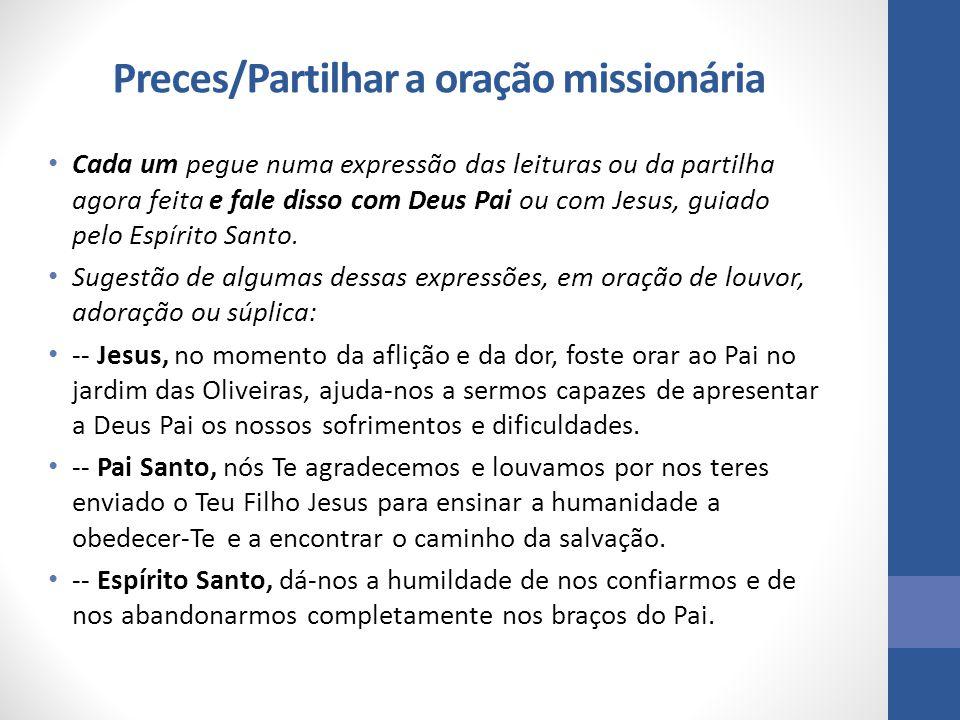 Preces/Partilhar a oração missionária