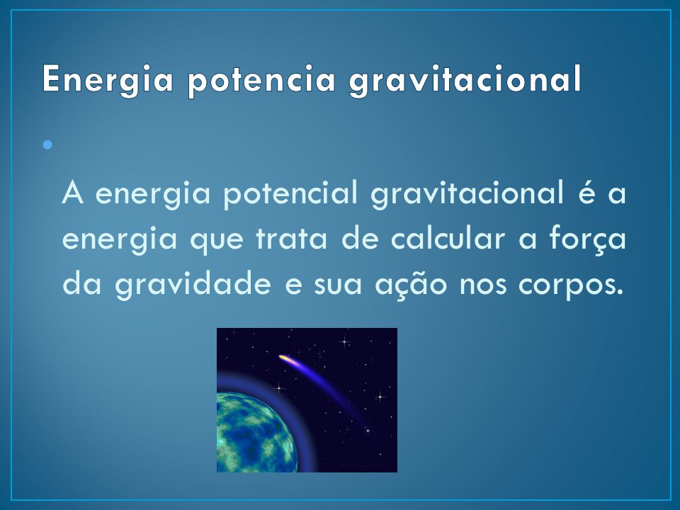 Energia potencia gravitacional