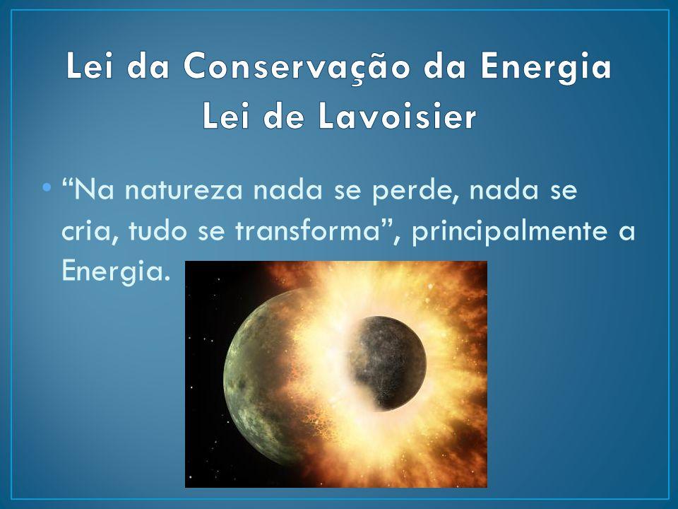 Lei da Conservação da Energia Lei de Lavoisier