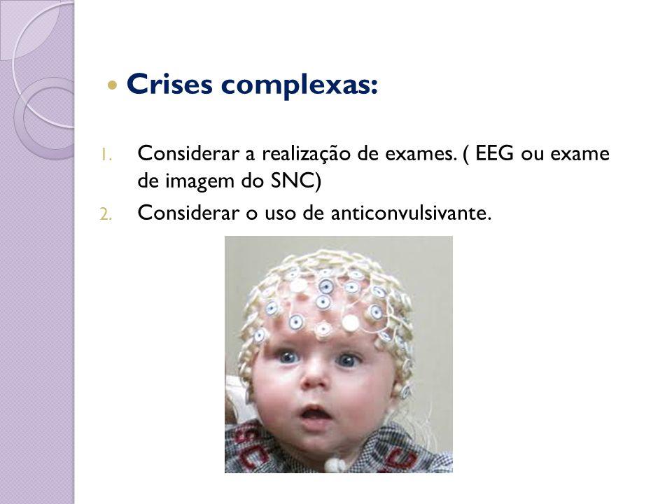 Crises complexas: Considerar a realização de exames.