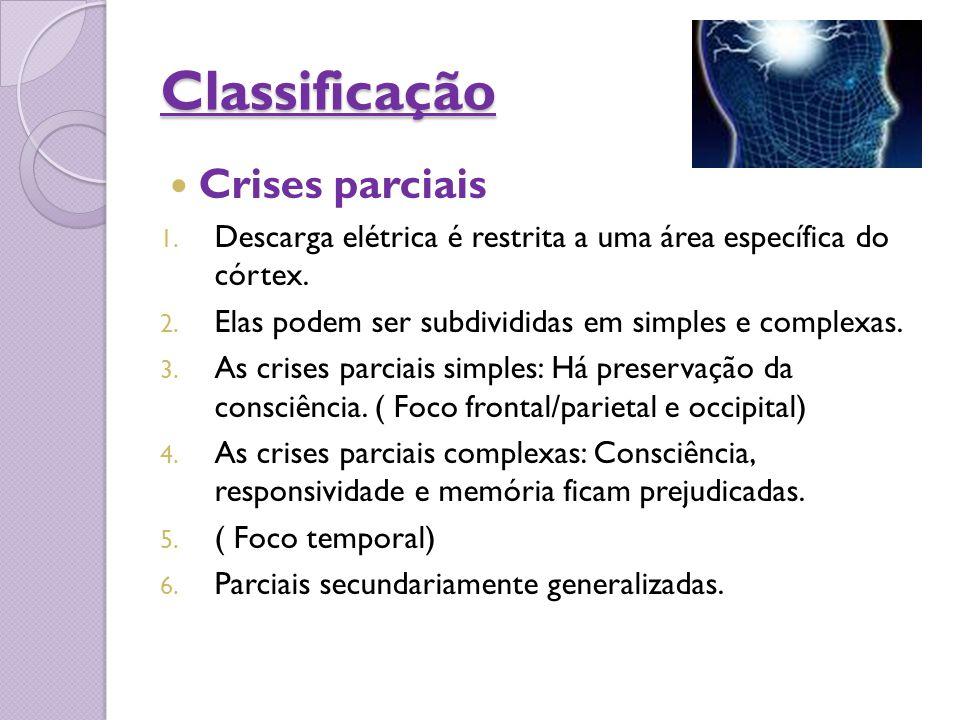 Classificação Crises parciais