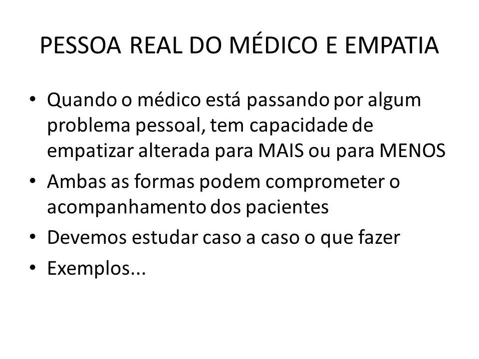 PESSOA REAL DO MÉDICO E EMPATIA