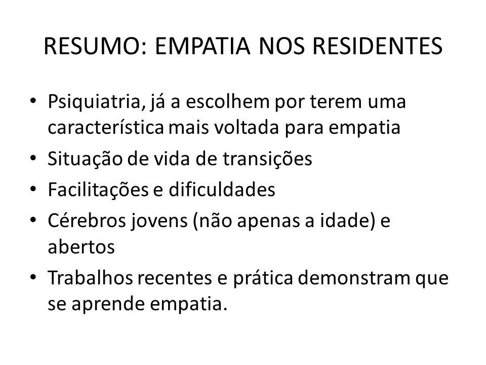 RESUMO: EMPATIA NOS RESIDENTES