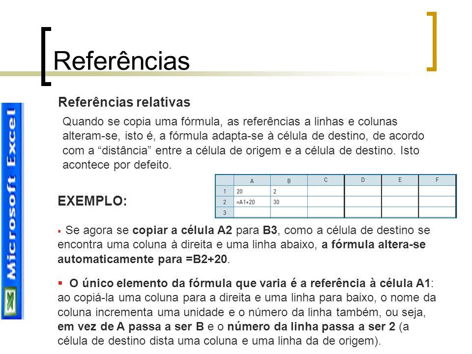 Referências Referências relativas EXEMPLO: