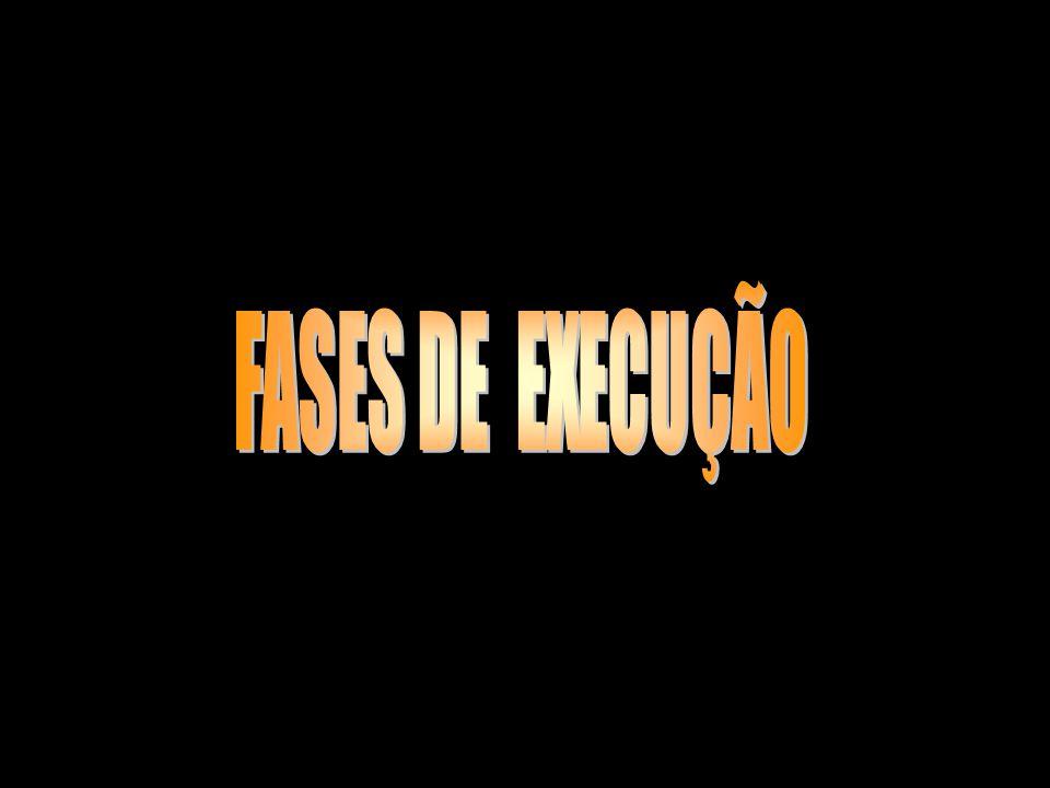 FASES DE EXECUÇÃO e