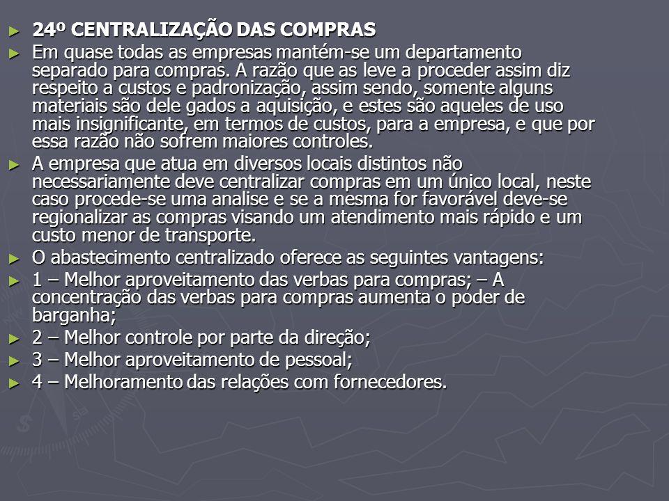 24º CENTRALIZAÇÃO DAS COMPRAS