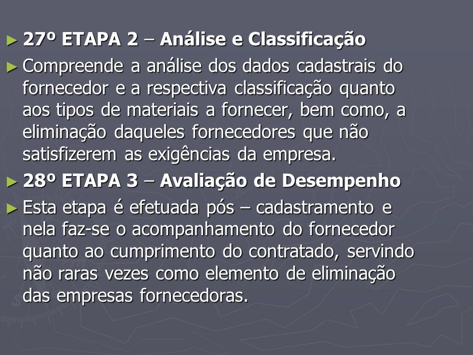 27º ETAPA 2 – Análise e Classificação