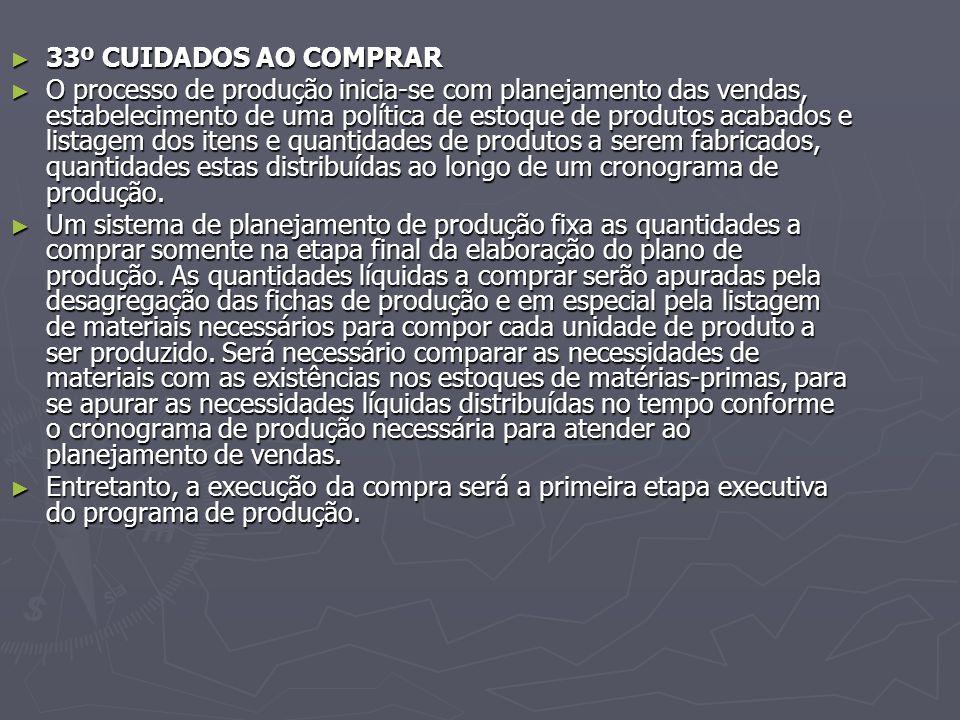 33º CUIDADOS AO COMPRAR