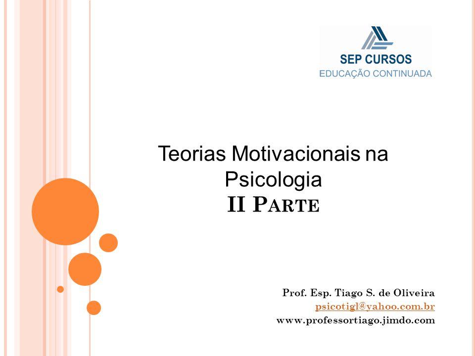 Teorias Motivacionais na Psicologia