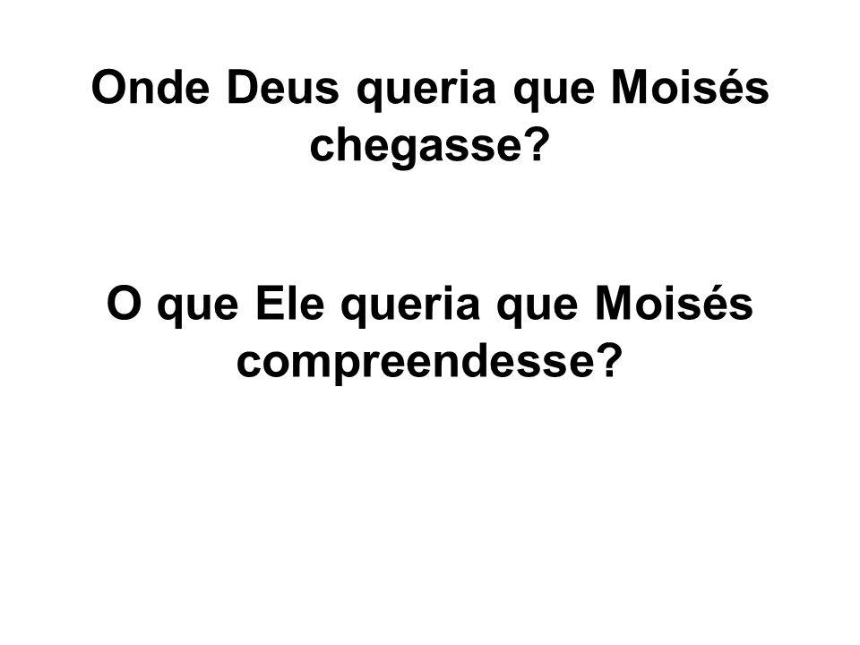 Onde Deus queria que Moisés chegasse