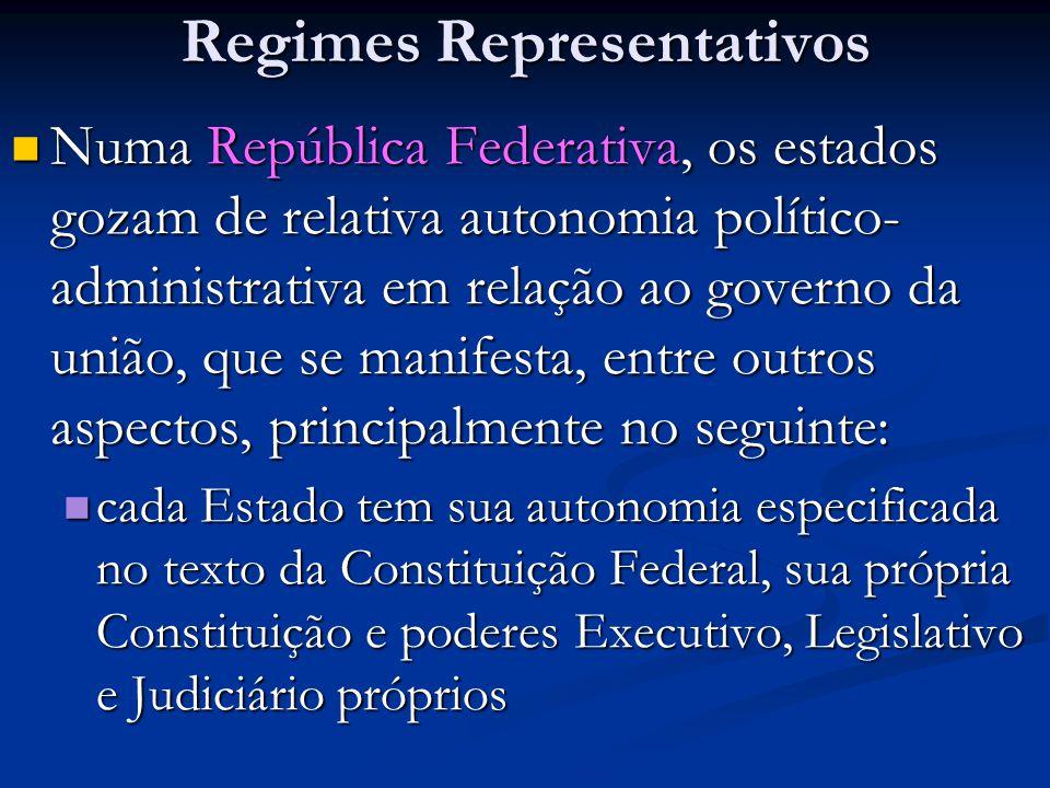Regimes Representativos