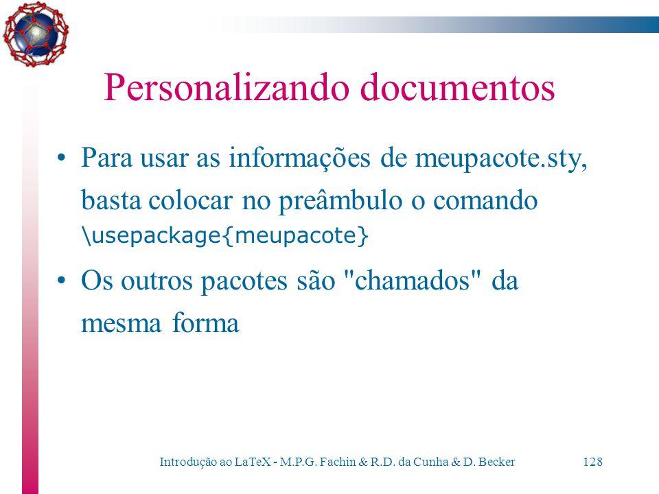 Personalizando documentos