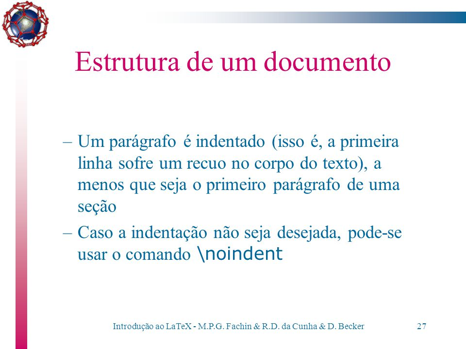 Estrutura de um documento
