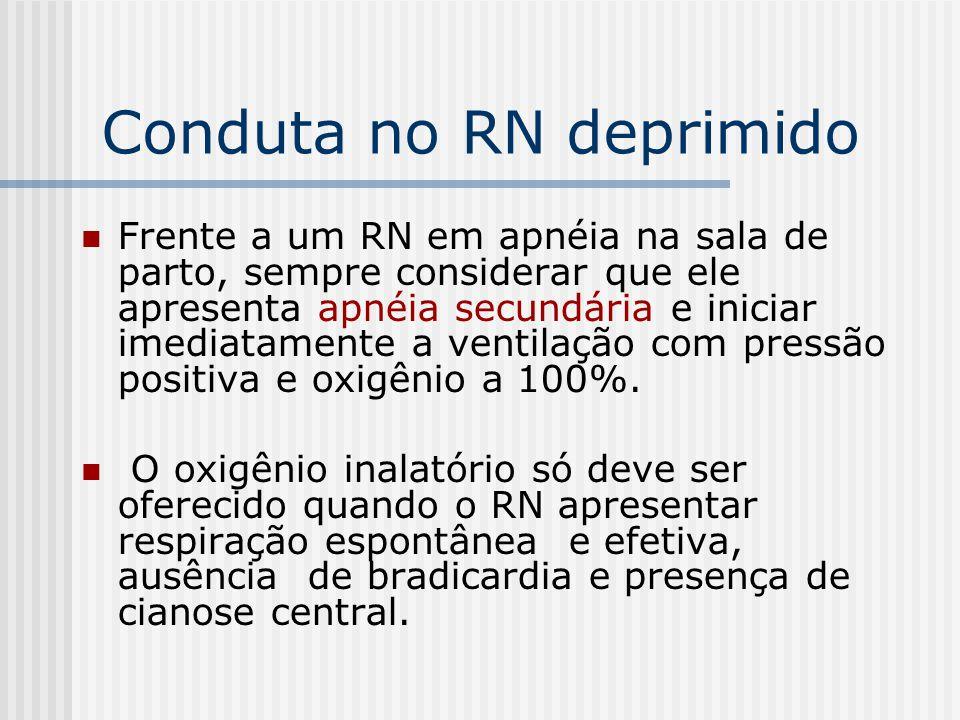 Conduta no RN deprimido
