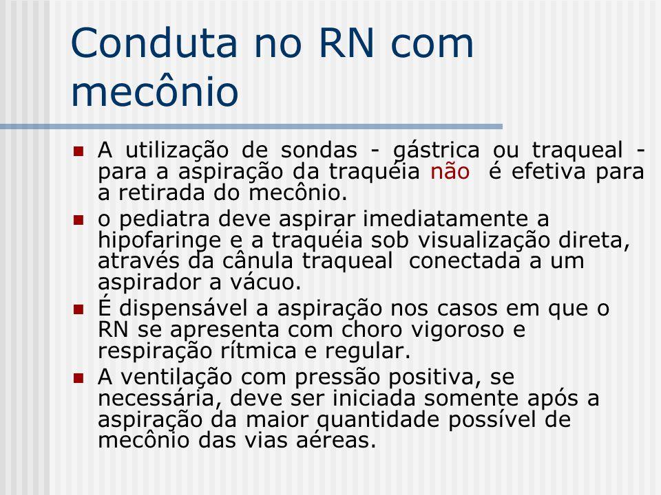 Conduta no RN com mecônio